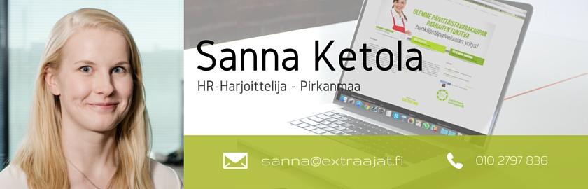 Extraajat - Blogibanner - Sanna Ketola